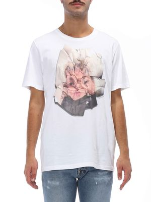 T-shirt over Half sleeves Print on front 100% cotton