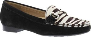 Alexandra Black/Zebra Loafer