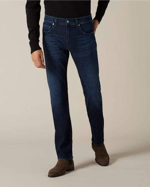 7 For All Mankind - Dark Blue SLIMMY WEIGHTLESS DENIM Jeans JSMSA890DB