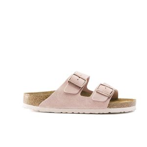 Birkenstock Arizona Soft Footbed Suede Leather Pink Narrow Fitting Sandals