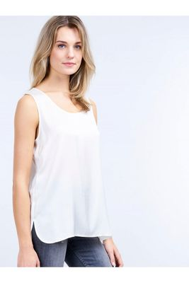 Women's Repeat 600001 Silk Tank Top in White or Green