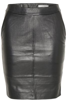 Gestuz Char Leather Mini Skirt (Black)