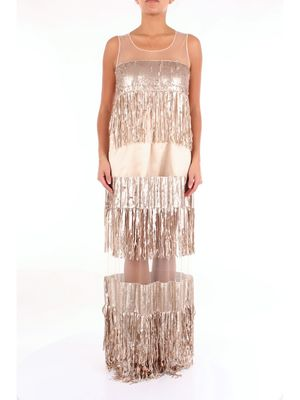 FRANCESCA CONOCI Dress Long Women Pink gold