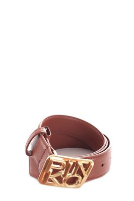 PINKO WOMEN'S 1H20S4Y5FFL58 BROWN LEATHER BELT