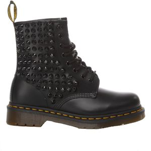 DR. MARTENS WOMEN'S MI1348 BLACK LEATHER ANKLE BOOTS