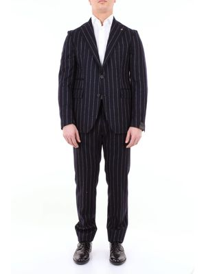 Tagliatore pinstripe suit in virgin wool
