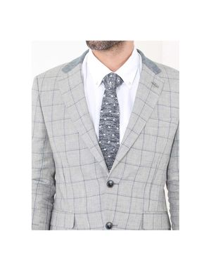 Gibson Knitted Spot Tie Colour: Grey