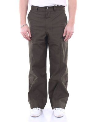 JACQUEMUS MEN'S 205PA0301580VERDONE GREEN COTTON PANTS