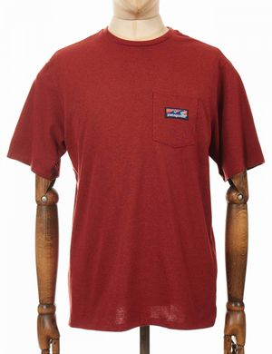 Patagonia Boardshort Label Pocket Responsibili Tee - Barn Red Colour: