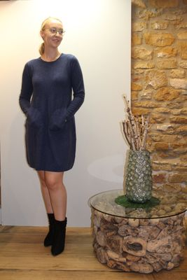 Oxford Cocoon Cashmere Dress