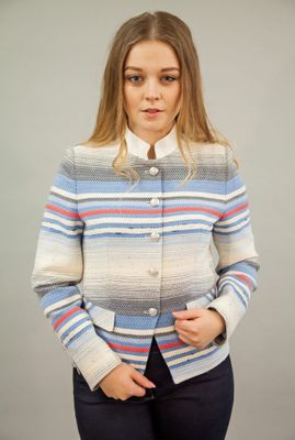 BARILOCHE BAGALA STRIPE SUMMER JACKET RED, BLUE & WHITE