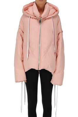 Oversized quilted down jacket