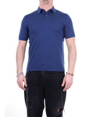 FEDELI MEN'S 3UED5913BLUPACIFICO BLUE OTHER MATERIALS POLO SHIRT
