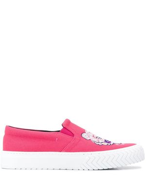 KENZO WOMEN'S F962SN200F7027 FUCHSIA COTTON SLIP ON SNEAKERS