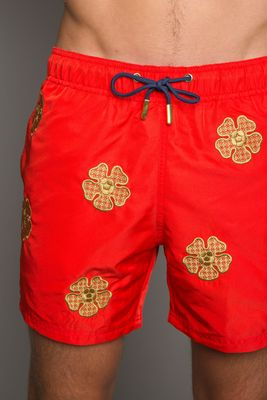 Riviera Red Swim Shorts