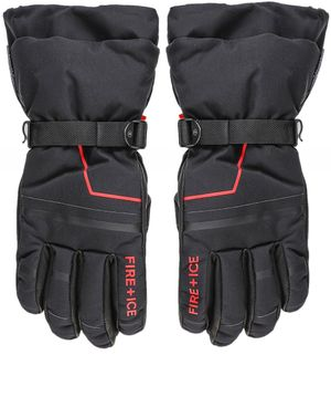 Bogner Water-Repellent Eric Ski Gloves Colour: Black