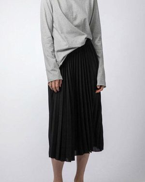 Yoshie organza skirt black
