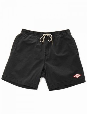 Deus Ex Machina Sandbar Garment Dyed Shorts - Phantom Black Colour: Ph