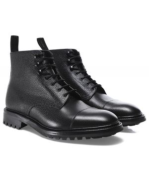 Loake Grain Leather Sedbergh Derby Boots Colour: Black