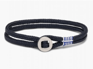 Don Dino Bracelet in Navy and Silver