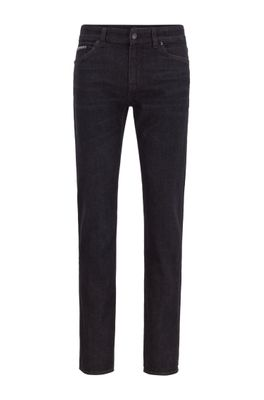 Hugo Boss - MAINE3 Black Regular-Fit Jeans In Italian Denim 50437927