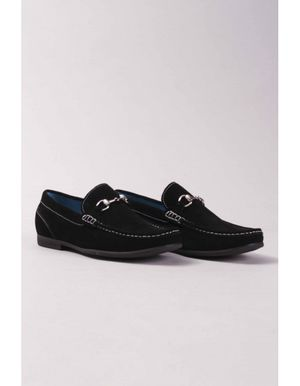 Paolo Vandini Aleko Suede Snaffle Loafer Colour: Navy