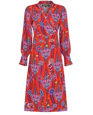 Stardust Tribal Electric Red Dress