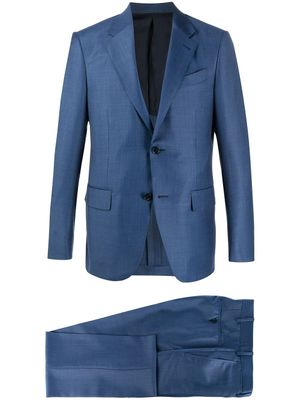 ERMENEGILDO ZEGNA MEN'S 72257725M22Y BLUE WOOL SUIT