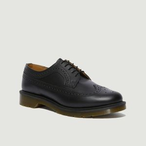 3989 brogues leather derbies Black smooth Dr. Martens