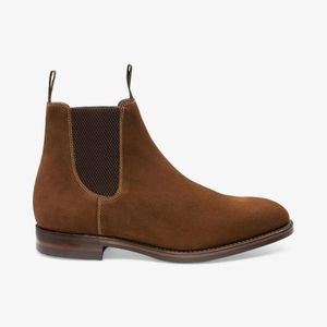 loake chatsworth suede chelsea boots , Colour:BROWN