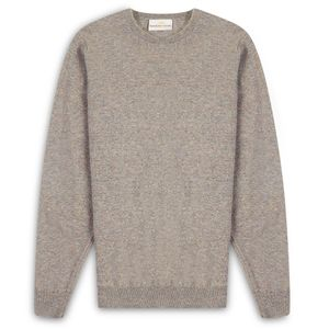 Burrows & Hare Scottish Lambs Wool Crew Neck Jumper - Marble
