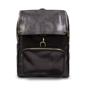 Burrows and Hare Leather Backpack - Black