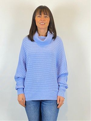 ACL Ribbed Roll Neck Blue