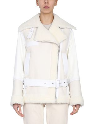 MR&MRS ITALY WOMEN'S XJK0171135003 WHITE OTHER MATERIALS OUTERWEAR JACKET