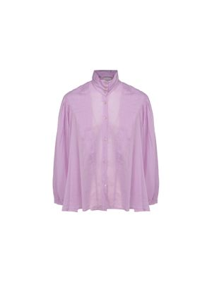 FORTE FORTE WOMEN'S 8076MYSHIRTLILAC PURPLE OTHER MATERIALS SHIRT