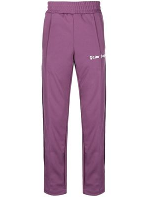 PALM ANGELS MEN'S PMCA007R21FAB0033901 PURPLE POLYESTER JOGGERS