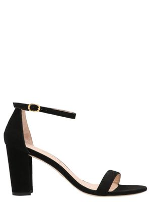 STUART WEITZMAN WOMEN'S NEARLYNUDE80SUEDEBLACK BLACK OTHER MATERIALS SANDALS