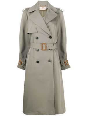 TORY BURCH WOMEN'S 74713303 GREY POLYESTER TRENCH COAT