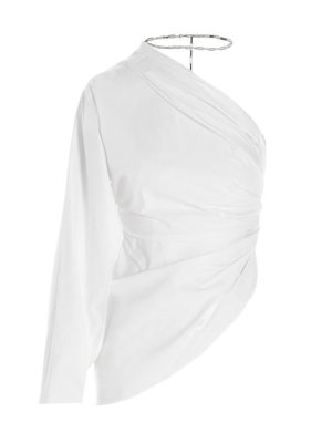 ATTICO WOMEN'S 211WCT31C017001 WHITE OTHER MATERIALS TOP