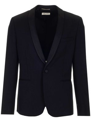 SAINT LAURENT MEN'S 509525Y512W1000 BLACK OTHER MATERIALS BLAZER