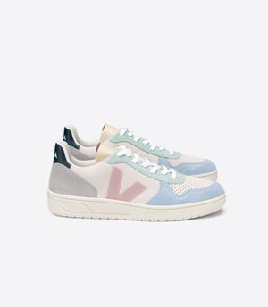 Veja V-10 Suede Basketball Sneaker Natural Babe Multi