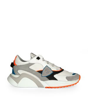 Sneakers Eze Mondial Blanc Neon Orange
