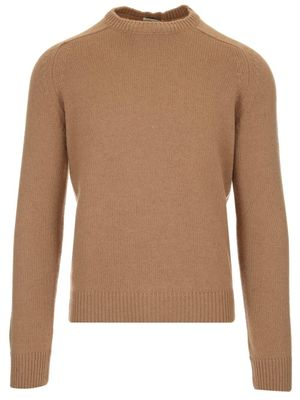 SAINT LAURENT MEN'S 603088YALK22611 BEIGE OTHER MATERIALS SWEATER