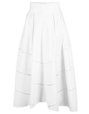 Cotton Embroidered Circle Skirt