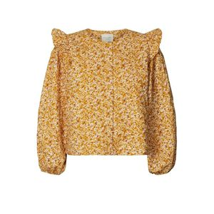 LOLLYS LAUNDRY Lilly Floral Printed Jacket - Mustard