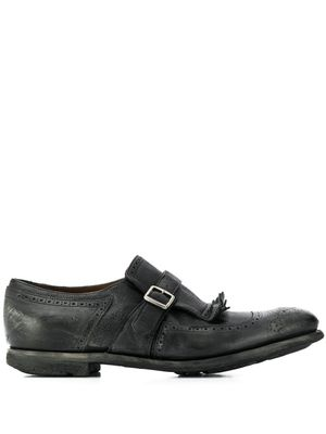 CHURCH'S MEN'S EOG0019PWF0AAB BLACK LEATHER MONK STRAP SHOES