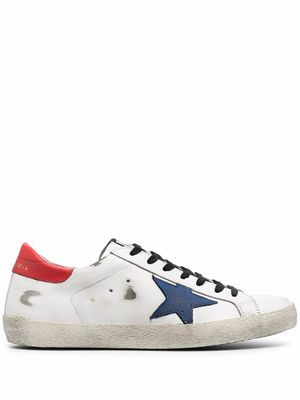 GOLDEN GOOSE MEN'S GMF00101F00034810281 WHITE LEATHER SNEAKERS