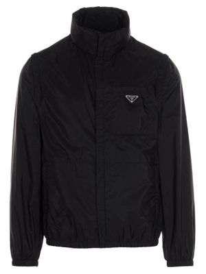 PRADA MEN'S SGB6611WQ9F0002 BLACK OTHER MATERIALS OUTERWEAR JACKET