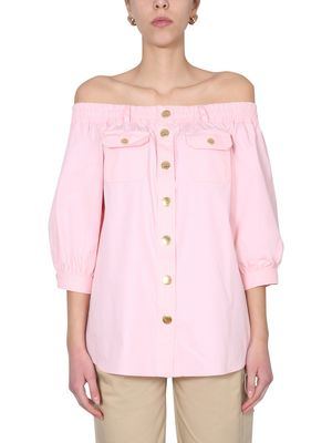 Boutique Moschino OFF-THE-SHOULDER SHIRT