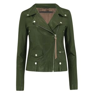 MDK Seattle New Thin Leather Jacket - Four Leaf Clover